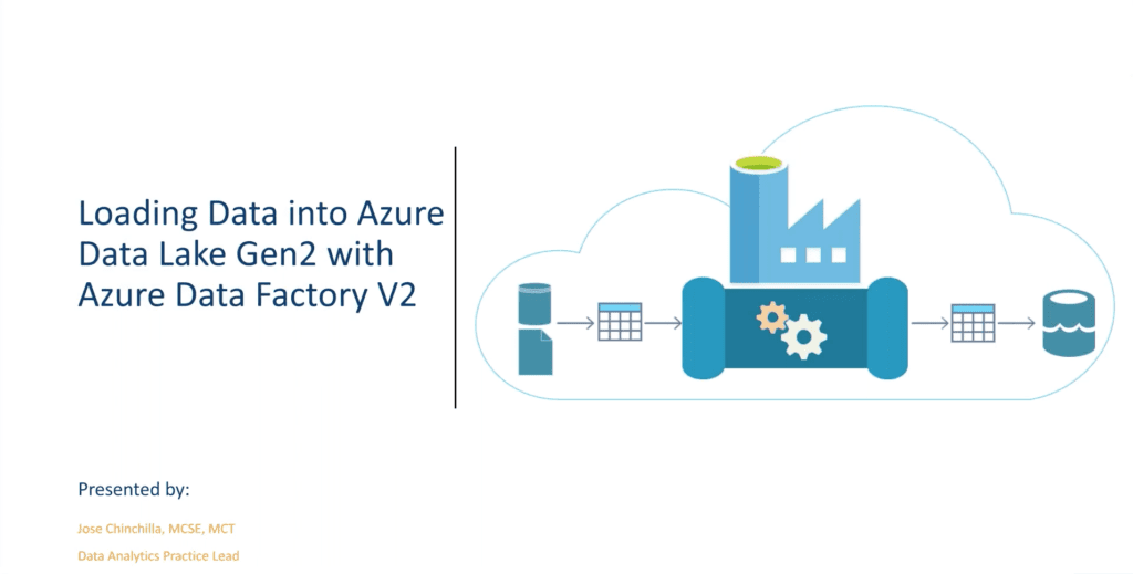 Loading data into Azure data lake