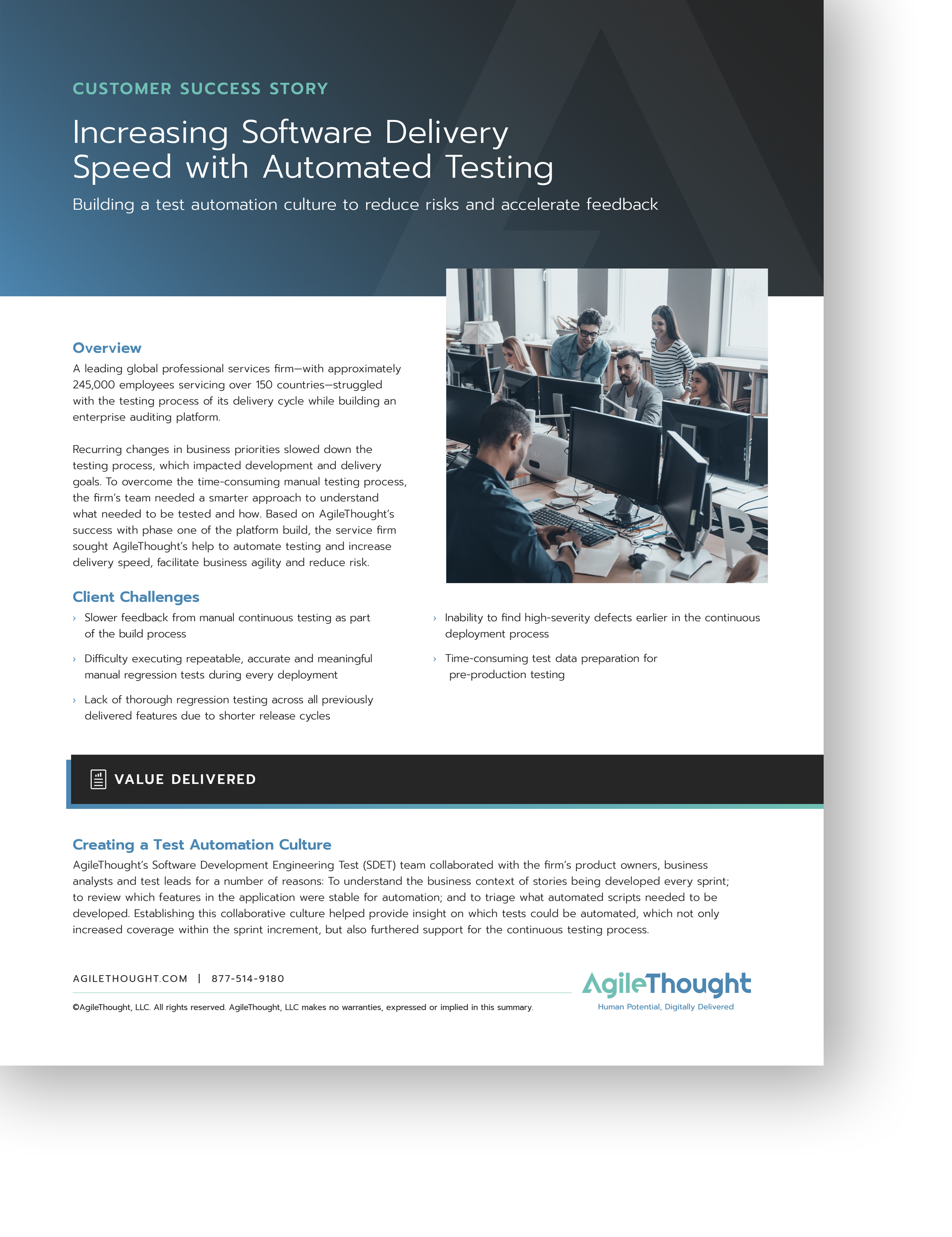 increasing software delivery speed with automated testing