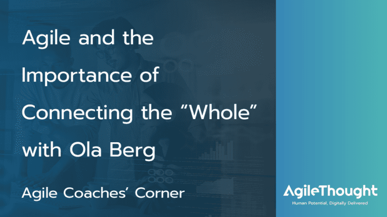 agile and the importance of the whole with ola berg