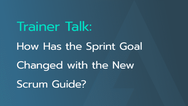 Sprint Goal and the New Scrum Guide